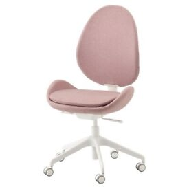 nearly new pink office chair (IKEA)