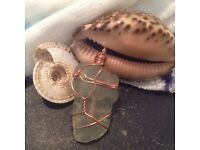 Handcrafted sea glass pendent