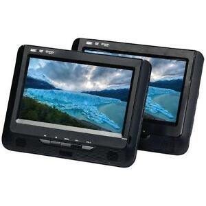 "Lecteur DVD portatif avec double écrans LCD 9"" Sylvania ( SDVD9960-B )"