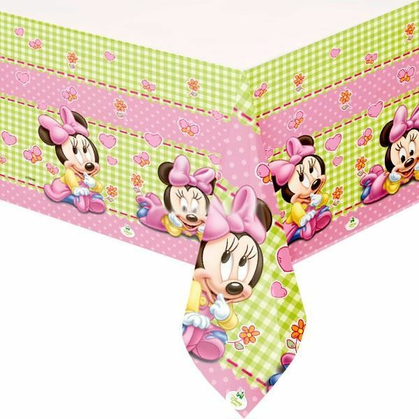 Disney+Baby+Minnie+Plastic+table+cover+%28120+x+180cm%29