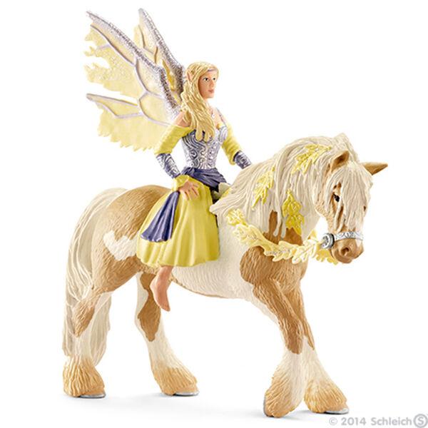 NEW SCHLEICH 70402 Bayala Sera on Horseback -Sun Elf Fairy Character - RETIRED