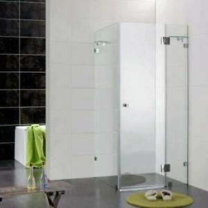 Bathroom Square Frameless Shower Screen Glass 1000x1000x2000 10mm