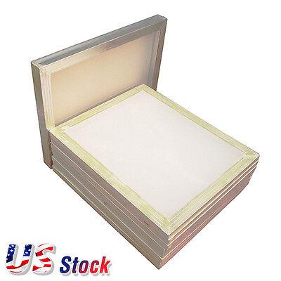 Us-6pcs 23 X 31 Aluminum Silk Screen Frame With 110 White Mesh