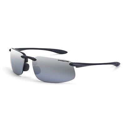 SUNGLASSES - POLARIZED- SILVER MIRROR LENS - ES4 - Plus ANSI Safety (Rating Sunglasses)