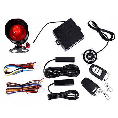 Car Alarm System Keyless Entry & Engine Ignition Push Starter Button Kit Useful