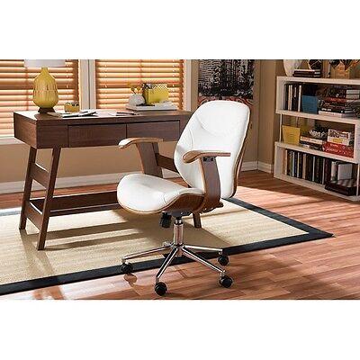 Baxton Studio  Rathburn Modern&Contemporary White&Walnut Office Chair