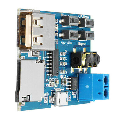 Mp3 Lossless Decoder Board With Power Amplifier Module Tf Card Decoding Pla