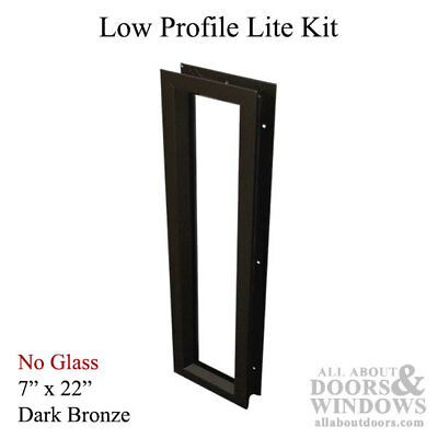 Commercial Low-profile Metal Door Lite Frame 7 X 22 - Dark Bronze