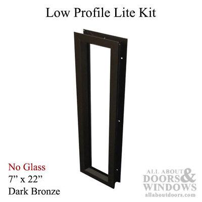 Commercial Low-profile Metal Door Lite Frame 7 X 22 - Dark Bronze