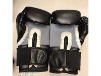 Lonsdale boxing gloves 16oz, black, excellent condition