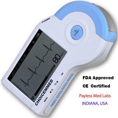 Portable Handheld Ecgekg Monitor Recorder Choicemmed 100b Free Telectrodesgel
