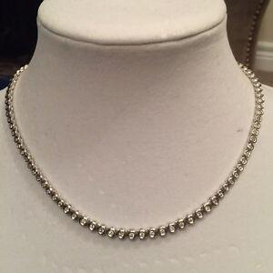 Women's genuine diamond necklace