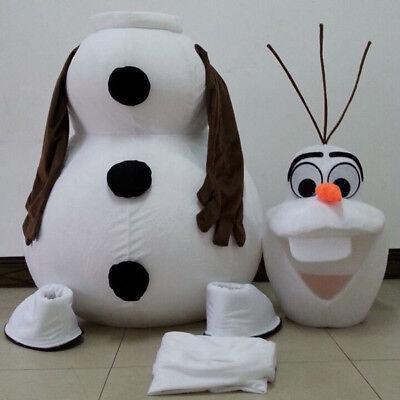 Adult Cartoon Costume (White Olaf Snowman Mascot Cartoon Costume)
