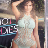 J. Lo Look Fish Net Gown  small