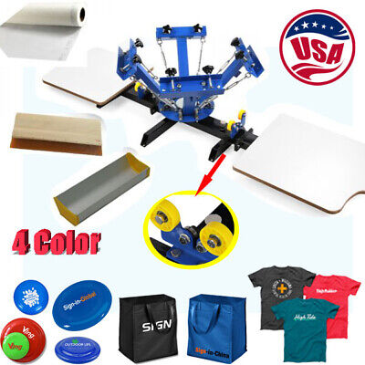 Calca 4 Color 2 Station Silk Screen Printing Press For Diy T-shirt Printing
