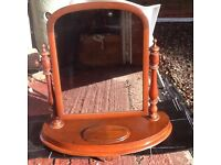 Antique free standing dressing table mirror
