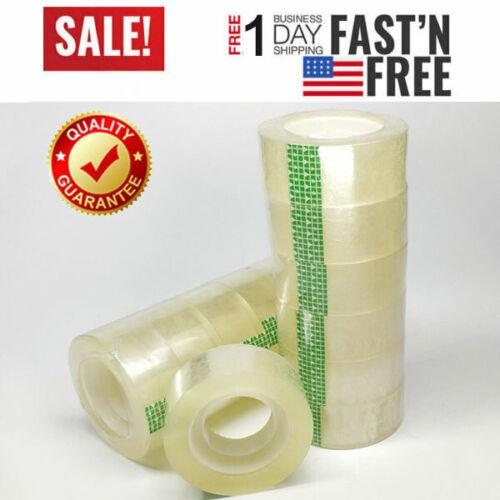 "Clear Transparent Tape Rolls 3/4"" x 1000"" Dispenser Refill 6 12 24 48 Tape Roll"
