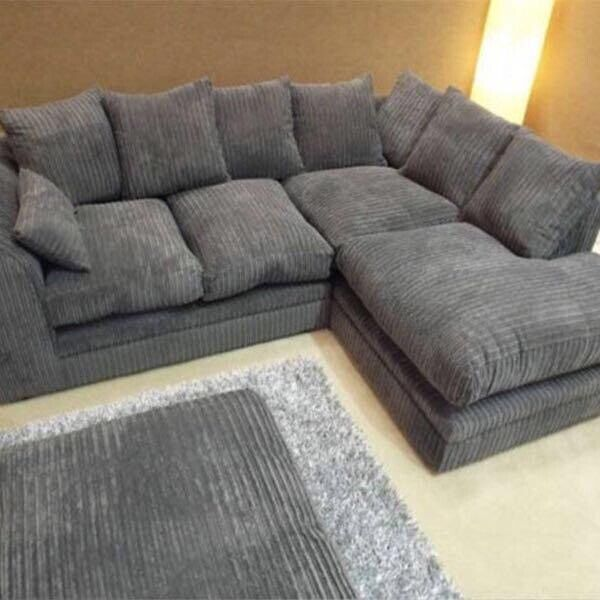 New Fabric Or Faux Leather Corner Sofa Settee