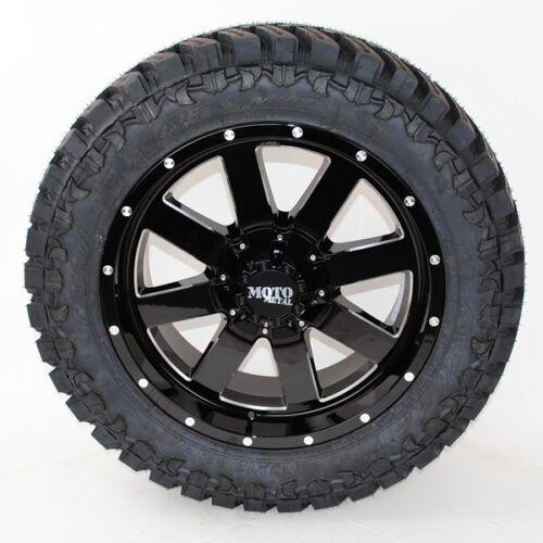 18x9 Moto Metal 962 Black Atturo Mt 33x12.50r18 Wheels Tires