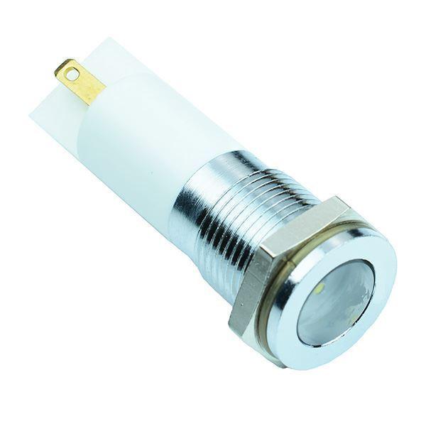 White LED 14mm Panel Indicator Light 110VAC APEM