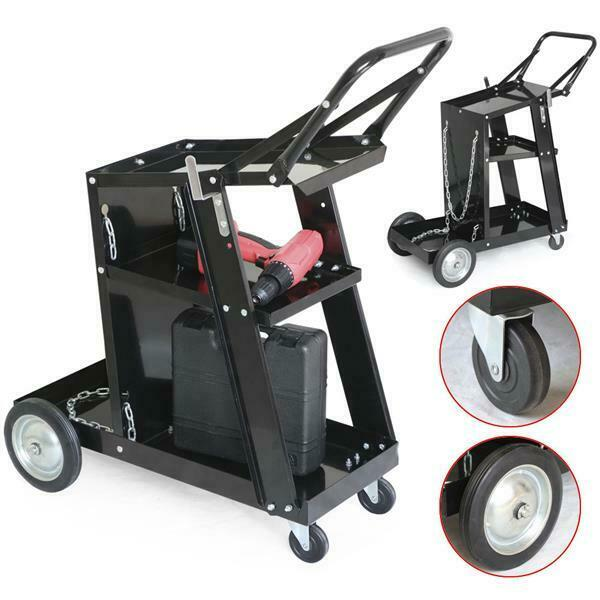 New Professional Welding Cart Plasma Cutting Machine without Drawer Black US