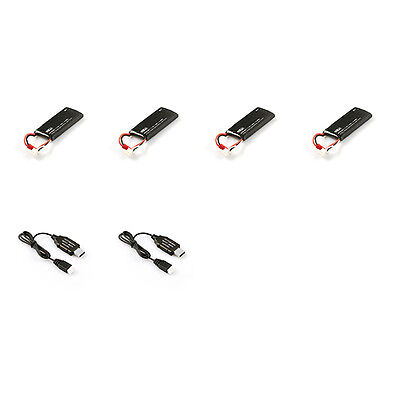 4* Battery +2*USB Charger Hubsan X4 H502S H502E Quadcopter Battery Pack H502-21