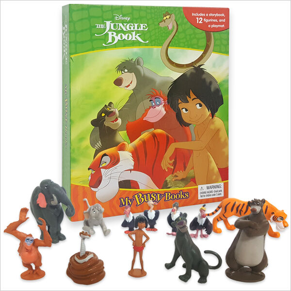 DISNEYS JUNGLE BOOK BUSY BOOK - 12 FIGURES AND A PLAYMAT BRAND NEW FREE P+P