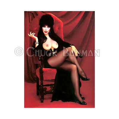Pin Up Girl Halloween (Fridge Magnet Elvira Hot Legs topless witch Halloween horror pin-up girl art)