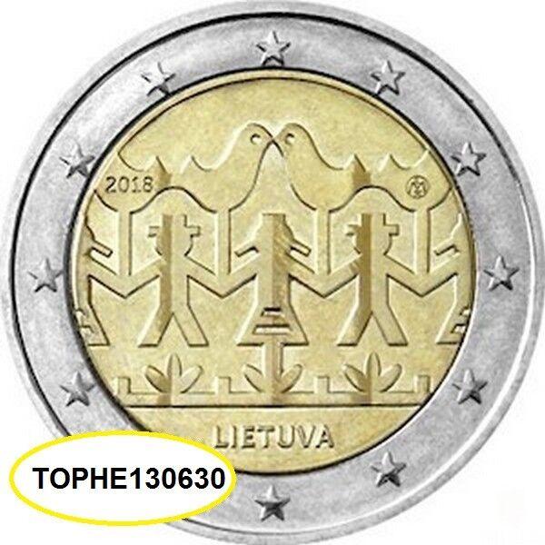 lituanie commÉmorative 2018 chant et danse 2 euro neuve-unc