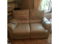 Cream 3,2 and 1 seater and all electric recliner,great condition.
