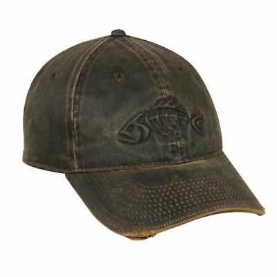 Outdoor Cap Adjustable Closure Bonefish Weathered Cotton Cap, Dark Brown