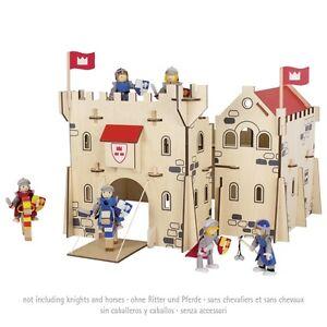 Goki Ritterburg aus Holz 54x56x47 cm Burg Holz Holzritterburg unmontiert # 58564