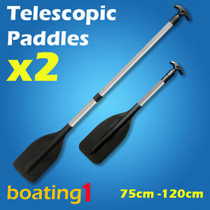2-x-PREMIUM-ADJUSTABLE-75CM-120CM-TELESCOPIC-ALUMINIUM-OARS-PADDLES