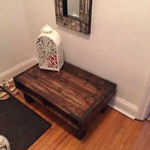 Cedar wood coffee table