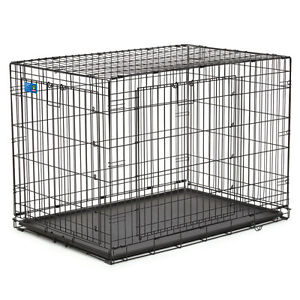 Large Double Door Dog Crate + Divider Panel *No Box - Never Used