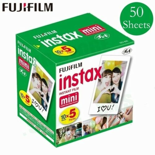 50 Sheets Fujifilm Instax White Instant Camera Photo Film