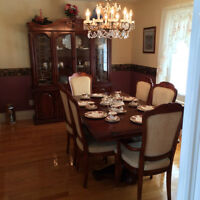 beautiful dinning set, tea trolley and solid moving