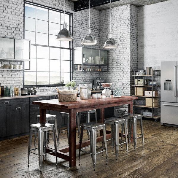 Superb Details About Rustic Wooden Kitchen Island Counter Height Cafe Bar Dining Table In Dark Walnut Download Free Architecture Designs Scobabritishbridgeorg