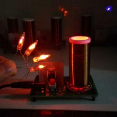 Tesla Coil Electronic Toys Wireless Transmission Lighting Arc Spray Diy