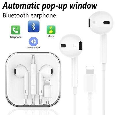 For Apple iPhone 7 8 XS XR X Lightning Headphone Earphones Mic Bluetooth Pop-Up