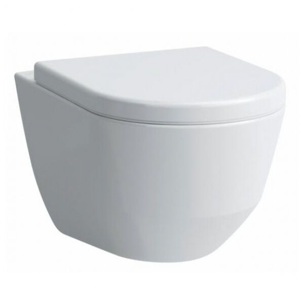 Laufen Pro Wand WC Klo Tiefspüler SPÜLRANDLOS mit LCC Beschichtung weiss
