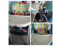 Chicco highchair / feeding chair with storage basket