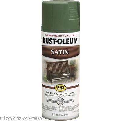 6 Pk Spruce Green RustOleum Stops Rust Indoor/Outdoor Satin Spray Paint -