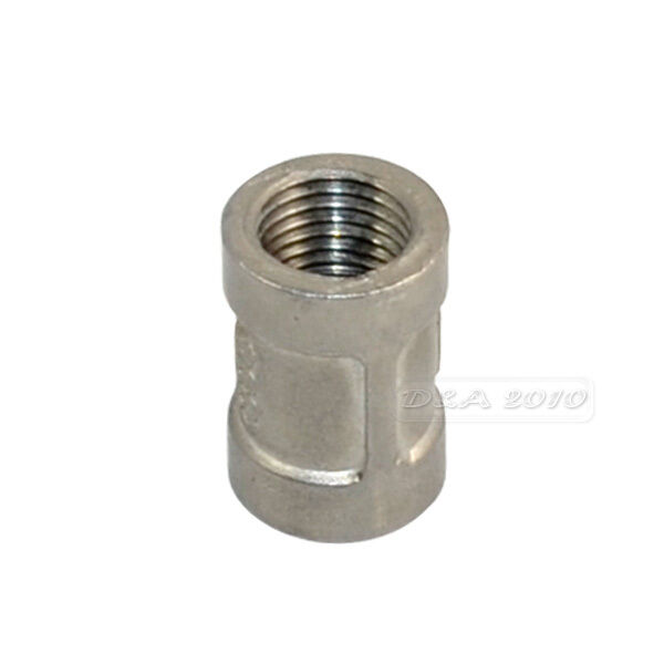 """1/4""""Female x 1/4"""" Female Couple Stainless Steel 304 Threaded Pipe Fitting NPT"""