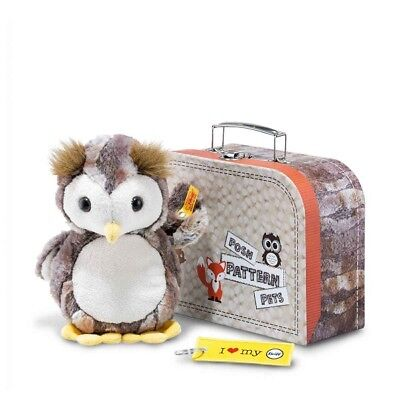 NEW Steiff Luxury OWL EUGEN In A Suitcase Ideal Christmas Gift 045639