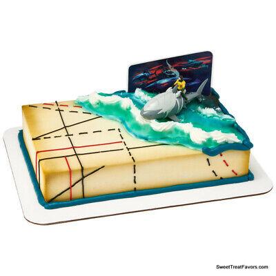 AQUAMAN AQUA MAN MOVIE Cake Decoration Party Supplies TOPPER KIT Heroes Birthday (Aqua Party Supplies)