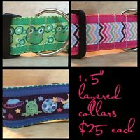 Handmade collars, leashes and accessories