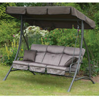 3 seater patio swing with canapy