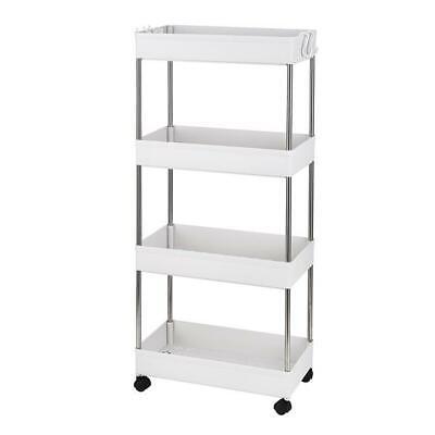 Rolling Storage Utility Cart 4-layer Shelf Storage Shelves Trolley Organizer