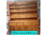 Fabulous 6 foot waxed dresser & will be painted to suit
